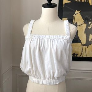 Zara Slightly Cropped Halter Top White M